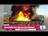 Así fue el incendio en un ducto de Pemex en Puebla | Noticias con Yuriria Sierra