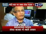 Sensex soars to record high as exit polls predic