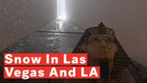 Rare Sightings Of Snow In Las Vegas And LA