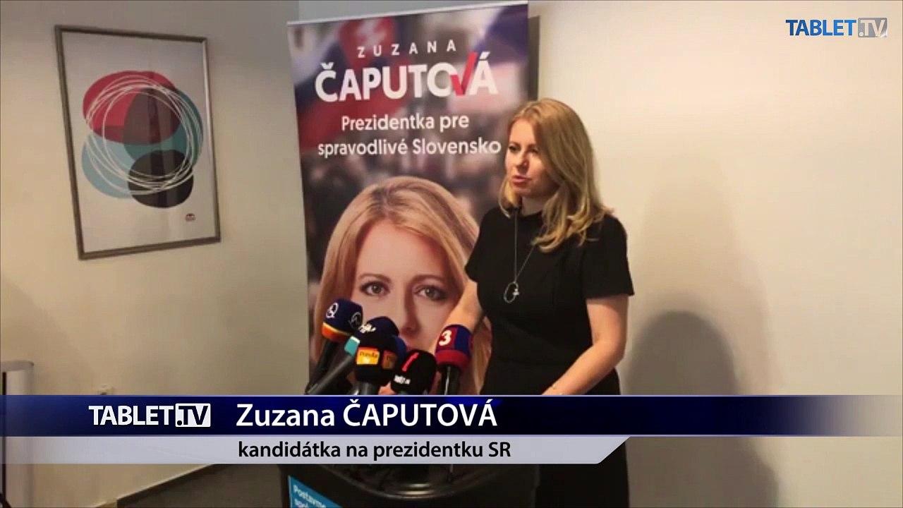 ZÁZNAM: TK kandidátky na post prezidenta SR Zuzany Čaputovej