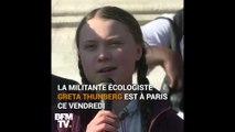 """""""J'aimerais que les adultes prennent leurs responsabilités."""" La jeune militante Greta Thunberg se mobilise pour le climat aux côtés d'étudiants à Paris"""