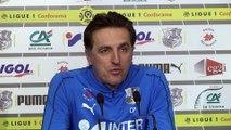 Avant  le match Amiens SC -OGC Nice, Christophe Pélissier