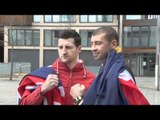 CARL FROCH v LUCIAN BUTE HEAD-TO-HEAD FOOTAGE / FOR iFILM LONDON / NO EASY WAY OUT