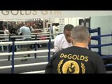 JAMES DeGALE & JIM McDONNELL MEDIA WORK OUT / HENNESSY MEDIA DAY