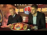 NATHAN CLEVERLY & FRANK WARREN PRESS CONFERENCE / iFILM LONDON / CLEVERLY v COYNE