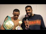 KID GALAHAD KNOCKS OUT JAZZA DICKENS TO CLAIM BRITISH TITLE - POST FIGHT INTERVIEW