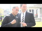 JAMES DeGALE & EDDIE HEARN - JAMES DeGALE JOINS THE MATCHROOM STABLE / PHOTOCALL