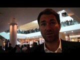 EDDIE HEARN TALKS REFEREE CHARLIE FITCH, GEORGE GROVES & PRE-WEIGH IN ACTIVITIES / FROCH v GROVES 2