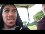HEAVYWEIGHT ANTHONY JOSHUA MBE TAKES A RANDOM GOLF BUGGY RIDE WITH EDDIE COVENTRY / iFL TV