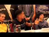 ANTHONY JOSHUA TALKS 1st TITLE FIGHT, POTENTIAL FIGHTS WITH DAVID HAYE, TYSON FURY & CHISORA IN 2015