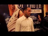 JAMES DeGALE POSES FOR THE MEDIA AFTER ANNOUNCE THA HE'LL FIGHT MARCO ANTONIO PERIBAN