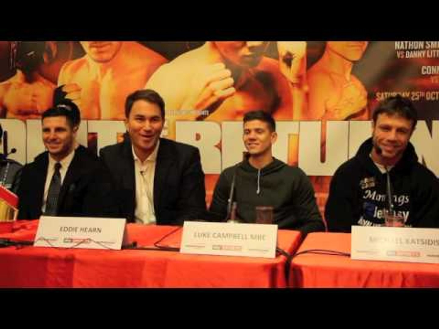 CAMPBELL v BRUIZUELA / COYLE v KATSIDIS / McDONNELL v MALINGA - PRESS CONFERENCE VIDEO