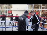 TOMMY COYLE & JAMIE MOORE PAD SESSION / PUBLIC WORKOUT IN HULL / COYLE v KATSIDIS - OCT 25
