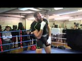 TYSON FURY WARMS UP WITH LIGHT-SHADOW BOXING / CHISORA v FURY 2 / BAD BLOOD