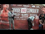 CONNOR SEYMOUR v DANNY BROWN - OFFICIAL WEIGH IN VIDEO FROM HULL / DIVIDE & CONQUER