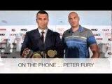 WLADIMIR KLITSCHKO v TYSON FURY IS POSTPONED AFTER KLITSCHKO LEG INJURY - INTERVIEW WITH PETER FURY