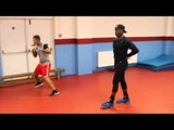 'LIKE FATHER LIKE SON' -  NIGEL BENN & CONNOR BENN SHADOW BOXING @ WEST HAM BOYS CLUB