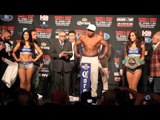 HEAVYWEIGHT CLASH - LUIS ORTIZ v MATIAS ARIEL VIDONDO - OFFICIAL WEIGH IN / FACE OFF @ MSG, NEW YORK
