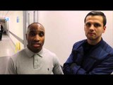 EAST SIDE GYM BOXERS ANTONIO COUNIHAN & MARCUS FFRENCH MAKE TIME TO TALK TO iFL TV IN BIRMINGHAM