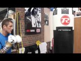 FORMER WORLD CHAMPION RICKY BURNS SMASHES THE HEAVYBAG @ MATCHROOM ELITE GYM