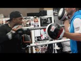 'THE DARK DESTROYER' NIGEL BENN ROLLS BACK THE YEARS WITH EXPLOSIVE PAD SESSION W/ TRAINER TONY SIMS