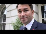 EDDIE HEARN TALKS ANTHONY JOSHUA v DILLIAN WHYTE & SAYS KELL BROOK UNLIKELY TO BE READY FOR DEC 12