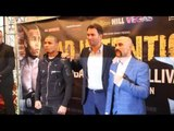 CHRIS EUBANK JNR REFUSES FACE OFF WITH GARY 'SPIKE' O'SULLIVAN DUE TO PREVIOUS KISSING ANTICS!