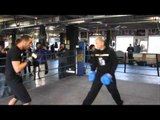 TECHNIQUE & SPEED - IBF WORLD CHAMPION JAMES DeGALE PAD WORK WITH JIM McDONNELL / DeGALE v BUTE