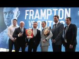 HAPPY FAMILIES -  NOT! - TEAM FRAMPTON & TEAM QUIGG POSE FOR AWKWARD PHOTOCALL IN LONDON