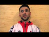 INTRODUCING GB STAR JOE CORDINA TO THE iFL TV VIEWERS AT THE SHEFFIELD INSTITUTE OF SPORT