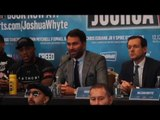 EXPLOSIVE!!! ANTHONY JOSHUA v DILLIAN WHYTE - FULL PRESS CONFERENCE WITH UNDERCARD & EDDIE HEARN