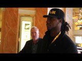 IBF HEAVYWEIGHT CHAMPION CHARLES MARTIN & TEAM MARTIN ARRIVE FOR ANTHONY JOSHUA PRESS CONFERENCE