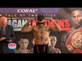 KEVIN SATCHELL v ADRIAN DIMAS GERZON WEIGH - OFFICIAL WEIGH IN & HEAD TO HEAD / FLANAGAN v MATHEWS