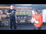 JAZZA DICKENS (FULL) MEDIA WORKOUT @ DERRY'S GYM / RIGONDEAUX v JAZZA
