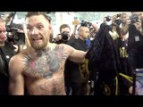 CONOR McGREGOR SHOWS OFF CUSTOM MADE VERSACE ROBE - GIVEN BY DONATELLA VERSACE