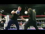 THE ANGRIEST MAN IN BELFAST - PADDY BARNES - HAMMERS THE PADS WITH TRAINER DANNY VAUGHAN
