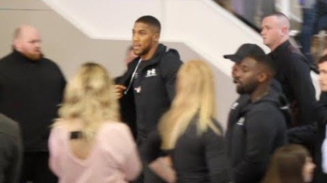 READY FOR WAR! - ANTHONY JOSHUA ARRIVES AT PRESS CONFERENCE AHEAD OF JOSEPH PARKER CLASH