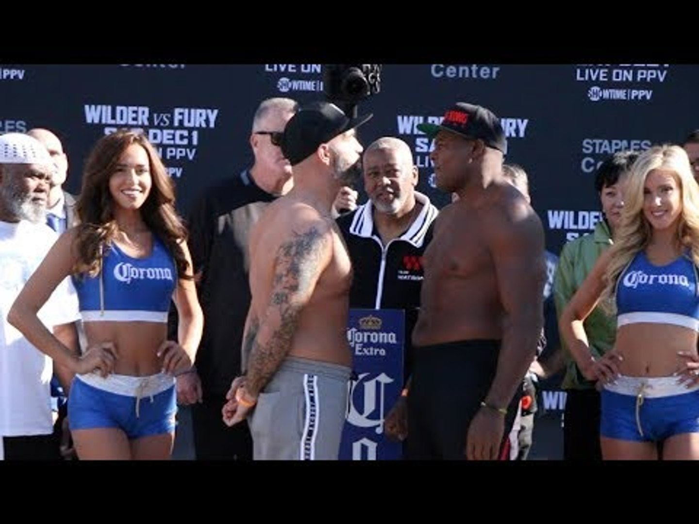 LUIS 'KING KONG' ORTIZ v TRAVIS KAUFFMAN - OFFICAL WEIGH IN VIDEO (L.A) / WILDER v FURY