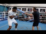 SLIP & BLOCK! - ANTHONY JOSHUA WORKING ON HIS DEFENCE WITH TRAINER ROB McCRACKEN / JOSHUA v POVETKIN