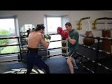 THE MIGHTY CELT! TYRONE McKENNA SMASHES THE PADS WITH COACH DANNY VAUGHAN / MTK SCOTLAND GYM