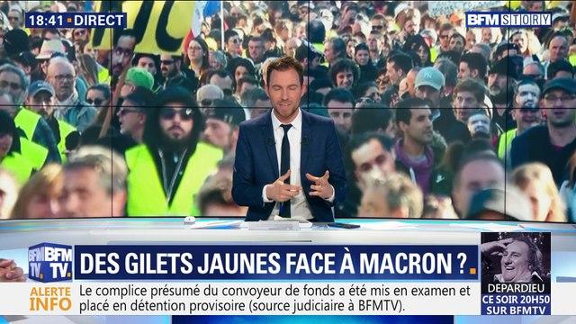Des gilets jaunes face à Emmanuel Macron ?