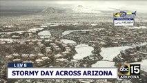 WATCH: Snow blankets the northeast Valley