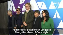 Best foreign language film nominees gather ahead of Oscars night
