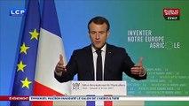 """Sortie du glyphosate : """"Il ne faut pas voir cet objectif comme une contrainte"""", déclare Macron"""