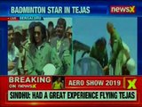 Bengaluru: PV Sindhu takes flight in Made-In-India Tejas fighter at Aero India 2019 show