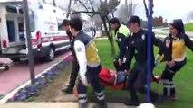 Boğulma tehlikesi geçiren kadın vatandaşlar tarafından kurtarıldı