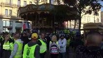 Gilets jaunes :  le carrousel de la place Charles de Gaulle  à Marseille pris d'assaut par les manifestants