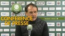 Conférence de presse Red Star  FC - Valenciennes FC (1-0) : Faruk HADZIBEGIC (RED) - Réginald RAY (VAFC) - 2018/2019