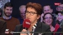 Christiane Lambert, présidente de la FNSEA, réagit au discours d'Emmanuel Macron au Salon de l'agriculture