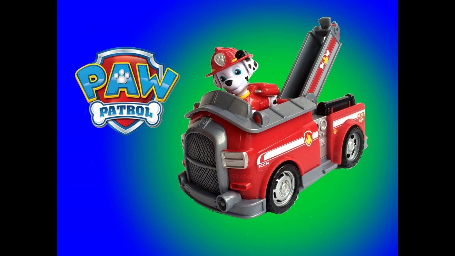 Nickelodeon Paw Patrol Marshall Fire Fightig Truck - Unboxing Demo Review